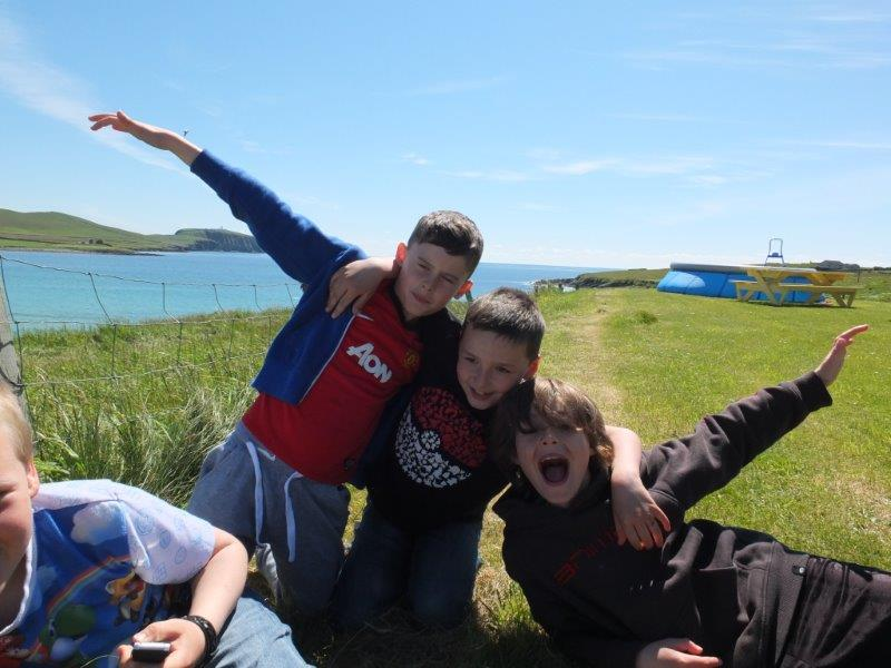 Boys having fun at Shetland Camp
